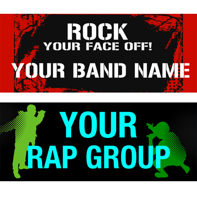 Vinyl Band Banners - Cheap Banners for Your Band