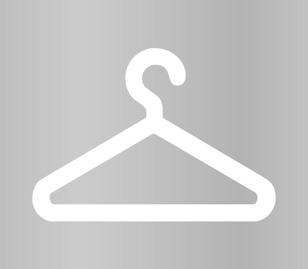 Clothes Hanger Symbol Die Cut Vinyl Decals 6x6